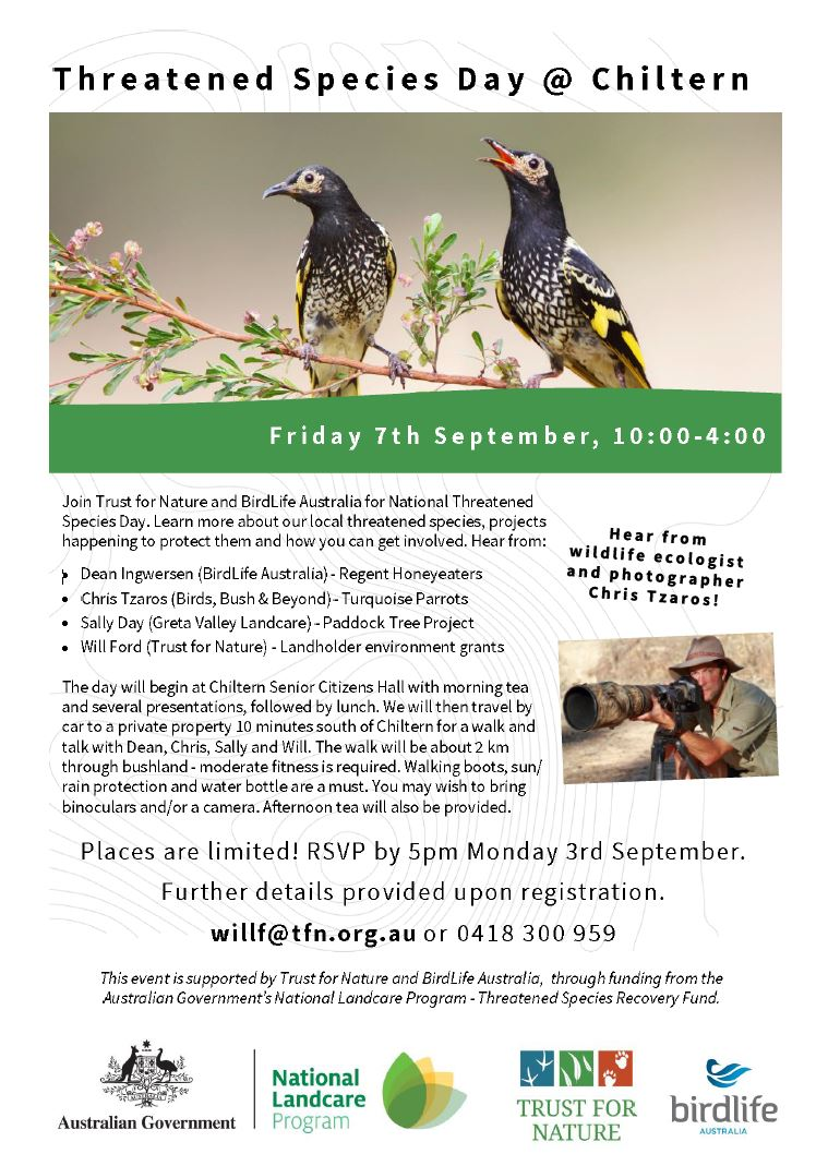 Threatened species day activities
